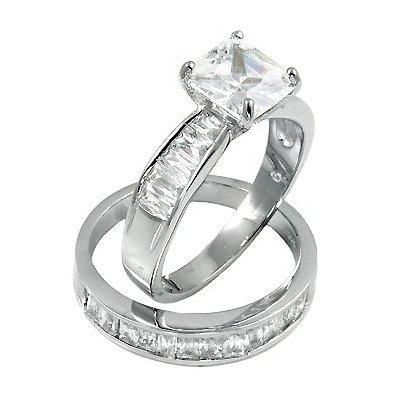 Mens Cubic Zirconia Wedding Rings on Silver Cubic Zirconia Cz Wedding Engagement Ring   Silver   Rings